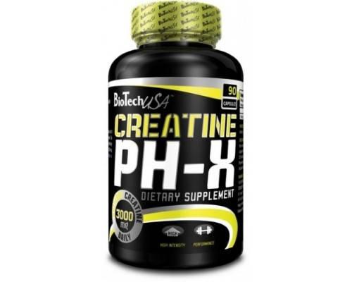 Креатин BioTech Creatine pH-X 90 капсул, фото 2