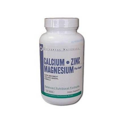 Витамины Universal Nutrition Calcium Zinc Magnesium 100 таблеток, фото 2