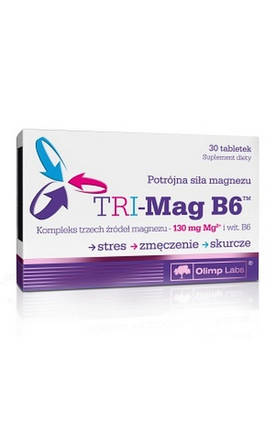Витамины Olimp TRI-Mag B6 30 капсул, фото 2