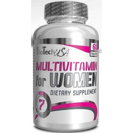 Витамины Biotech Multivitamin for Women (WOMEN'S PERFORMANCE) 60 таблеток , фото 2