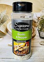 Приправа часник і перець Supreme Garlic and Pepper Seasoning, фото 1