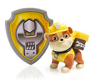 Щенячий патруль. Крепыш  Paw Patrol Action Pack Pup & Badge, Rubble