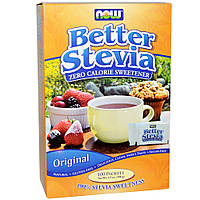 Заменитель сахара NOW Foods Better Stevia 100 пакетов 100 г