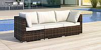 Комплект плетеной мебели APERTO диван 250 см