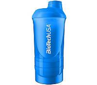 Шейкер BioTech Shaker Wave 3 in 1 500 мл синий