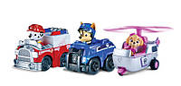 Щенячий патруль. Сет из 3-х машинок Paw Patrol Rescue Racers Vehicle (3-Pack)