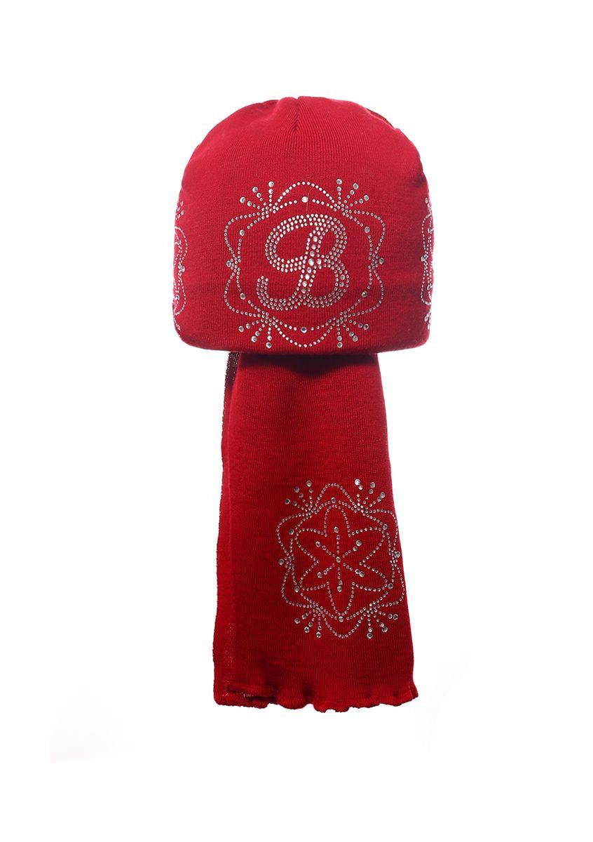 Шапочка и шарфик на девочку польского производства.