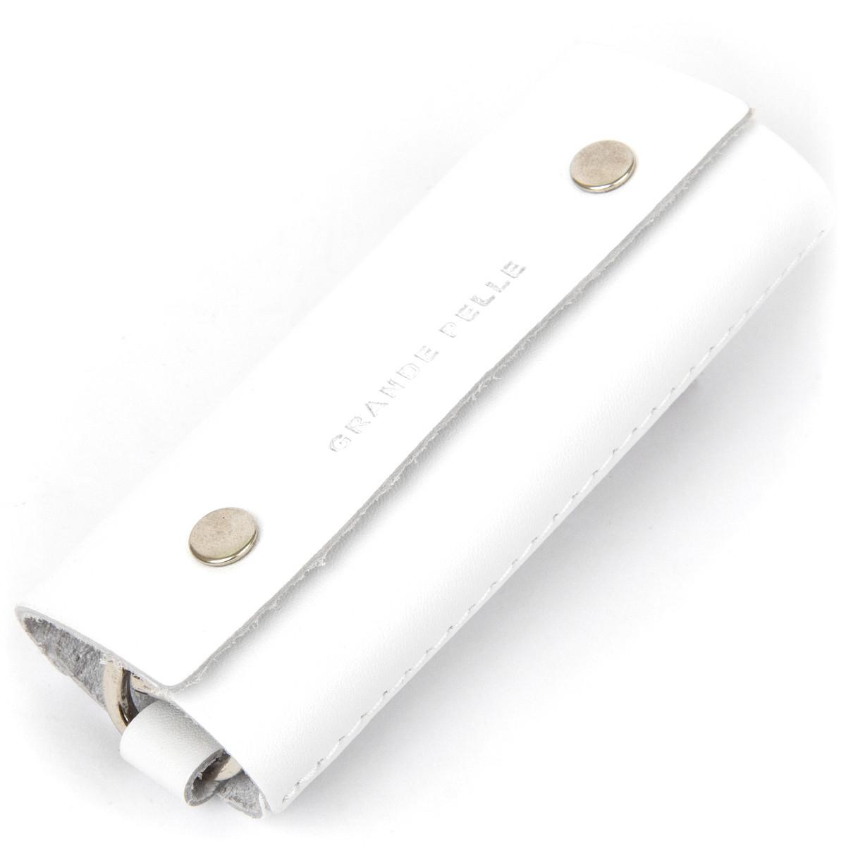 Шкіряна універсальна ключниця GRANDE PELLE 11346 Білий