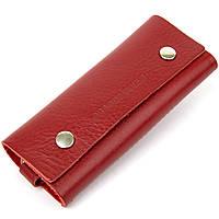 Яскрава шкіряна ключниця GRANDE PELLE 11353 Червоний, фото 1