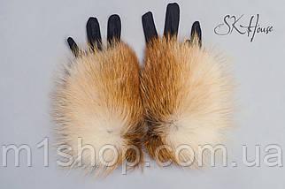 Женские перчатки с мехом лисы , фото 3