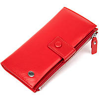 Яскравий жіночий гаманець-клатч ST Leather 19374 Червоний, фото 1