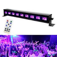 Ультрафіолетова лампа для дискотек 27Вт 40см 9LED DMX512 2108-04099