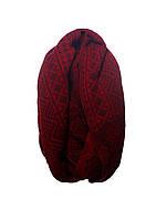 Красивый оригинальный теплый вязаный шарф-хомут.