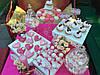 Свадебный Кенди бар Candy Bar в ярко розовых тоннах, фото 2