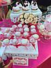 Свадебный Кенди бар Candy Bar в ярко розовых тоннах, фото 3