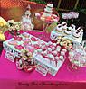 Свадебный Кенди бар Candy Bar в ярко розовых тоннах, фото 7