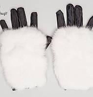 Женские перчатки с мехом из кролика (Mеховые sk)