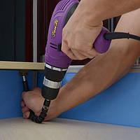 Отвертка с гибким магнитным удлинителем для отвертки и дрели  + насадки