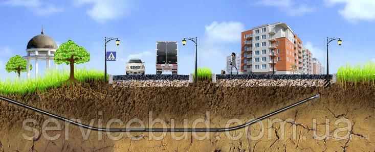 Прокладка коммуникаций. Проколы под дорогами. Горизонтально-направленное бурение (ГНБ).