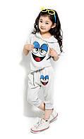 Детский летний костюм  шорты и футболка на мальчика и девочку  на рост 95 120