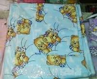 Комплект сменного постельного белья 3 в 1 бязь голубенький мишка