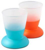 Две чашки Baby Bjorn, оранжевый/бирюзовый