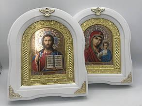 Иконы парные в белой рамке