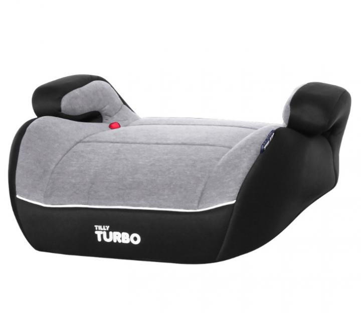 Автомобильное кресло бустер для ребенка 6-12 лет TILLY Turbo T-541/2 Gray группа 3, (22-36 кг), серый