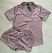 Женская нежная шелковая пижама, фото 2