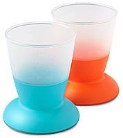 Набор чашек Babybjorn оранжевый/бирюзовый ( 2 шт.)