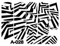 Слайдер дизайн (водная наклейка) для ногтей А-028
