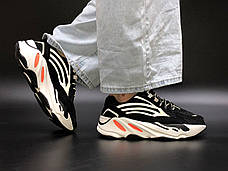 """Рефлектив   Женские кроссовки в стиле Adidas Yeezy Boost 700 """"Black Orange"""", фото 3"""