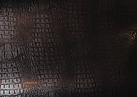 Пленка под кожу крокодила коричневая 1,52 м