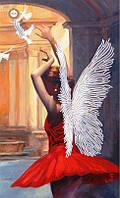 """Схема для частичной вышивки бисером """"Лети мой ангел, лети"""""""