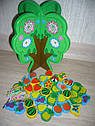 Деревянная игрушка шнуровка Дерево E03036, фото 2