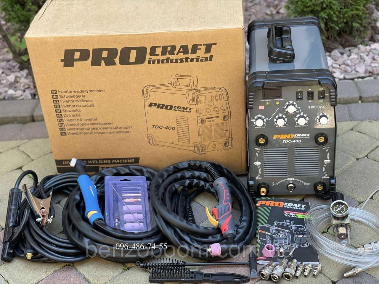 Procraft Industrial TIG/CUT/MMA TDС-400 AC/DC сварка алюминия/плазморез/инвертор
