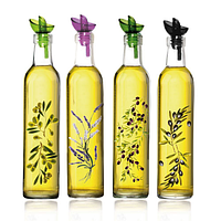 Бутылка стеклянная для масла Греция 0,5л. с дозатором