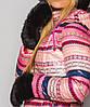Женские варежки с натуральным мехом(9477 br) черный, фото 4
