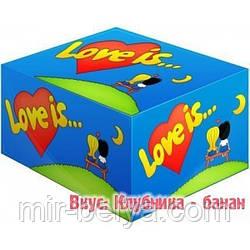 Жвачки Love is  клубника - банан  жевательная резинка лове ис