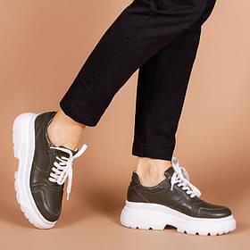 Дизайнерские кроссовки цвета Хаки размеры 36-40