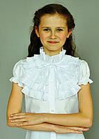 """Школьная нарядная блузка """"Свит блуз"""" мод.2093к белая р.152"""
