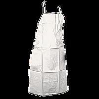 Фартук из ПВХ белый стойкий к влаге 120х90см (56181)