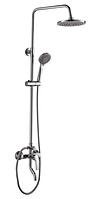 Душевой набор латунный хромированный Haiba OLIVIA 003-J душевая колонна со смесителем тропическим душем