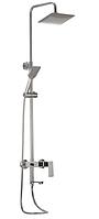 Душевая колонна со смесителем Haiba KUBUS 003-J душевой гарнитур с тропическим душем латунный хромированный