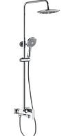 Душевая колонна со смесителем HAIBA FOCUS 003-J латунный хромированный душевой гарнитур с тропическим душем