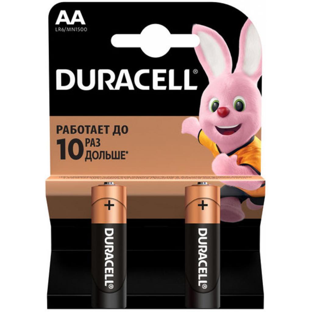 Батарейка Duracell LR-06 AA 2 шт