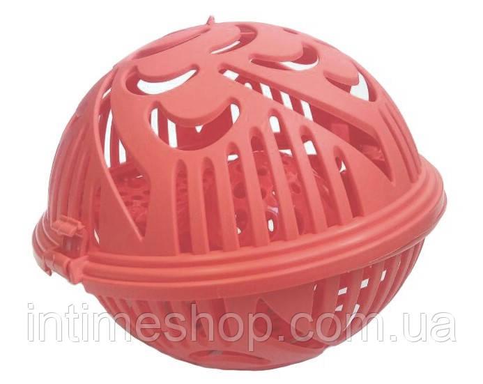 Контейнер для прання бюстгальтерів Flexy Bra Washer, колір - червоний, куля для прання бюстгальтера (NS)