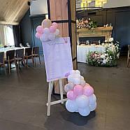 Білий мольберт в аренду на весілля, на виставку тринога, дерев'яний, Ліра 60 х 80 х 175 см, студійний, фото 3