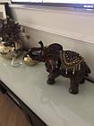 Статуетка слон з прикрасами, хобот до верху 35см з полистоун