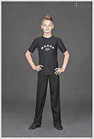 Одежда для бальных танцев мужская, футболка «С накаткой»